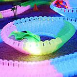 Led Magic tracks 220 деталей гибкая гоночная трасса гоночный трек для малышей дорога игрушка для мальчиков, фото 7