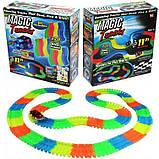 Led Magic tracks 220 деталей гибкая гоночная трасса гоночный трек для малышей дорога игрушка для мальчиков, фото 6