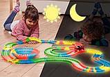 Led Magic tracks 220 деталей гибкая гоночная трасса гоночный трек для малышей дорога игрушка для мальчиков, фото 3