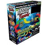 Led Magic tracks 220 деталей гибкая гоночная трасса гоночный трек для малышей дорога игрушка для мальчиков, фото 10
