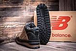 Чоловічі зимові шкіряні коричневі черевики, фото 3
