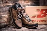 Чоловічі зимові шкіряні коричневі черевики, фото 2
