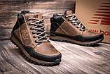 Чоловічі зимові шкіряні коричневі черевики, фото 5