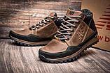 Мужские коричневые зимние кожаные ботинки, фото 4
