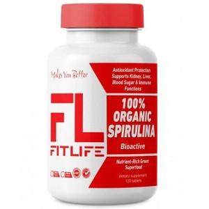 Спирулина FitLife 100% Organic Spirulina (120 таблеток.)