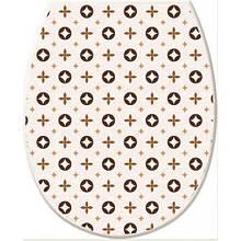 Сиденье для унитаза пластик с декором Elif Plastic Keep Clean Louis Vuitton