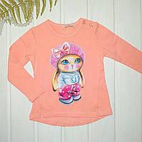 Блузка для девочки Джемпер для девочки розовый Размеры 86 92 98 104 110