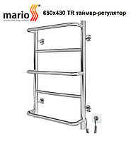 Электрический полотенцесушитель  Mario Люкс HP -I 650x430 TR таймер-регулятор, фото 1
