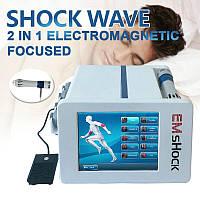 Апарат 2 в 1 Ems, Електрична стимуляція м'язів, ударна хвильова терапія, полегшення болю, УВТ