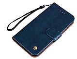 Чехол - книжка для Xiaomi mi6x / Xiaomi mi A2 с силиконовым бампером внутри Цвет Синий, фото 2