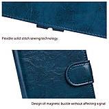 Чехол - книжка для Xiaomi mi6x / Xiaomi mi A2 с силиконовым бампером внутри Цвет Синий, фото 6