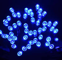 Светодиодная гирлянда небольшой длины: 5 метров, синий цвет