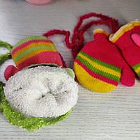 Варежки для девочки Возраст 6 месяцев - 1,5 года, фото 2