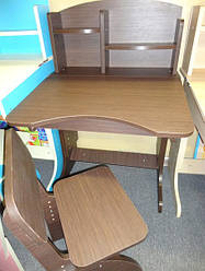 Регулируемая детская парта растишка со стульчиком Финекс+ HB-2071-04-14 (Венга)