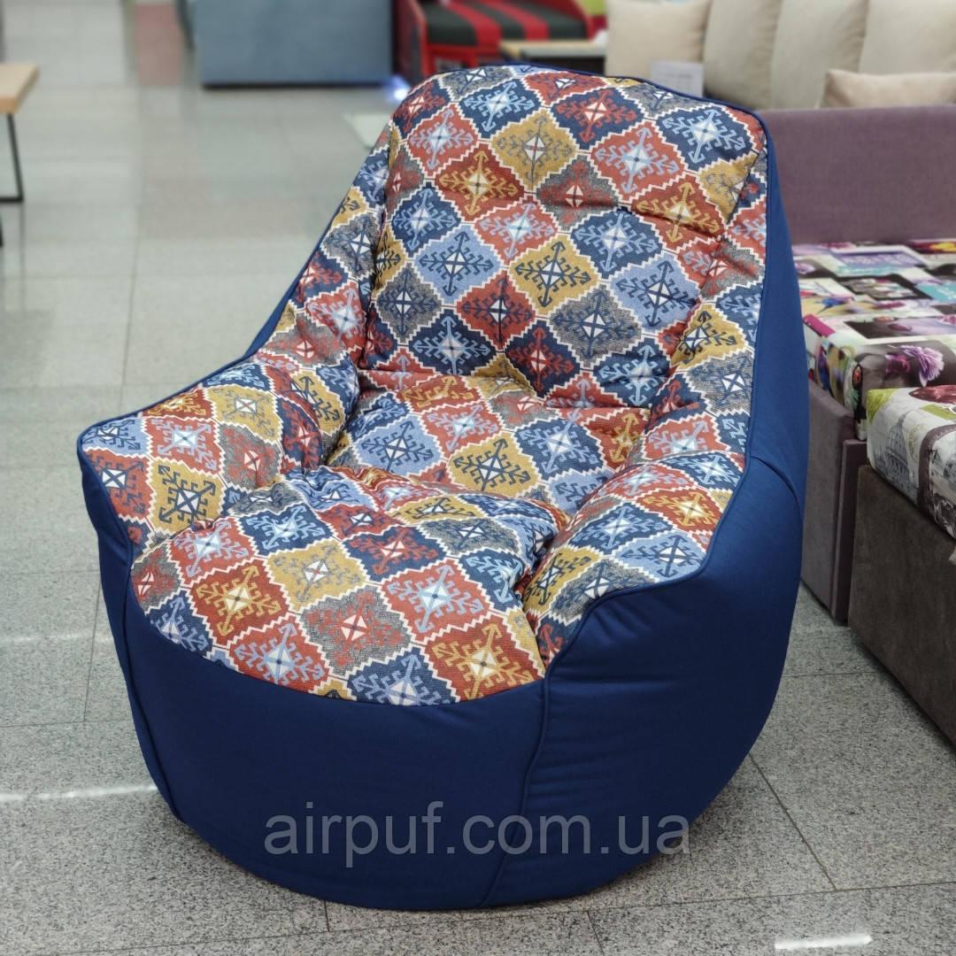 Кресло Мешок Президент Босс BOSS (ткань Оксфорд + принт Велюр)
