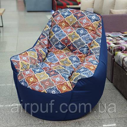 Кресло Мешок Президент Босс BOSS (ткань Оксфорд + принт Велюр), фото 2