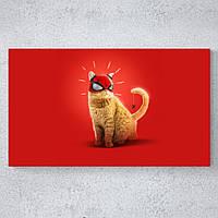 Стильная картина в офис или для интерьера бара - Кот spider-man art