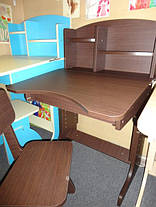 Регулируемая детская парта растишка со стульчиком Финекс+ HB-2071-04-14 (Венга), фото 3