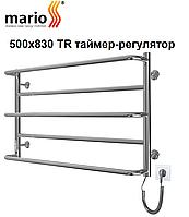 Електрична рушникосушка Mario Люкс Сіті 500х830 TR таймер-регулятор, фото 1