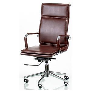 Кресло офисное на колесиках Special4You Solano 4 artleather коричневое