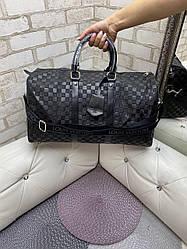 Сумка ручная кладь дорожная Louis Vuitton LV  Damier Infini (реплика люкс)