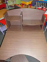 Дитяча парта регульована растишка зі стільчиком Фінекс+ HB-2071-04-14 (Венга), фото 3