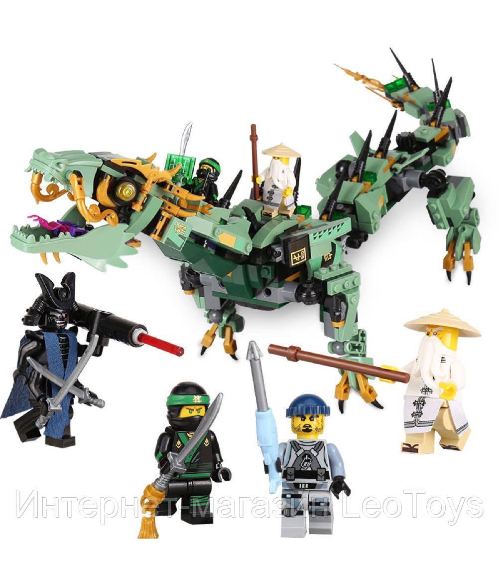 Конструктор Lepin 06051 Механический Дракон Зелёного Ниндзя