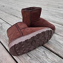 31 - 35 Угги UGG детские теплые ботиночки уггі дитячі сапожки коричневые эко замшевые, фото 2