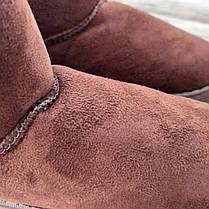 31 - 35 Угги UGG детские теплые ботиночки уггі дитячі сапожки коричневые эко замшевые, фото 3