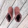 31 - 35 Угги UGG детские теплые ботиночки уггі дитячі сапожки коричневые эко замшевые, фото 4
