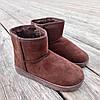31 - 35 Угги UGG детские теплые ботиночки уггі дитячі сапожки коричневые эко замшевые, фото 5