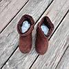31 - 35 Угги UGG детские теплые ботиночки уггі дитячі сапожки коричневые эко замшевые, фото 6