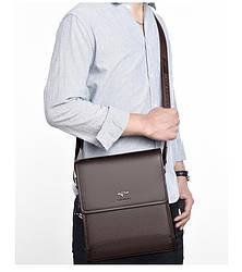 Мужская сумка-барсетка Kangaroo через плечо коричневая
