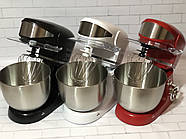 Кухонний тістоміс міксер планетарний Royalty Line BLACK  1600 Вт, фото 3