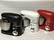 Кухонний тістоміс міксер планетарний Royalty Line BLACK  1600 Вт, фото 4