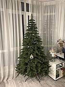 Элитная зеленая 2.1м литая елка искусственная ель литая