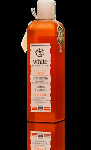 Органический шампунь для сухих и поврежденных волос с маслом макадамии и розмарином White Mandarin, 250 мл