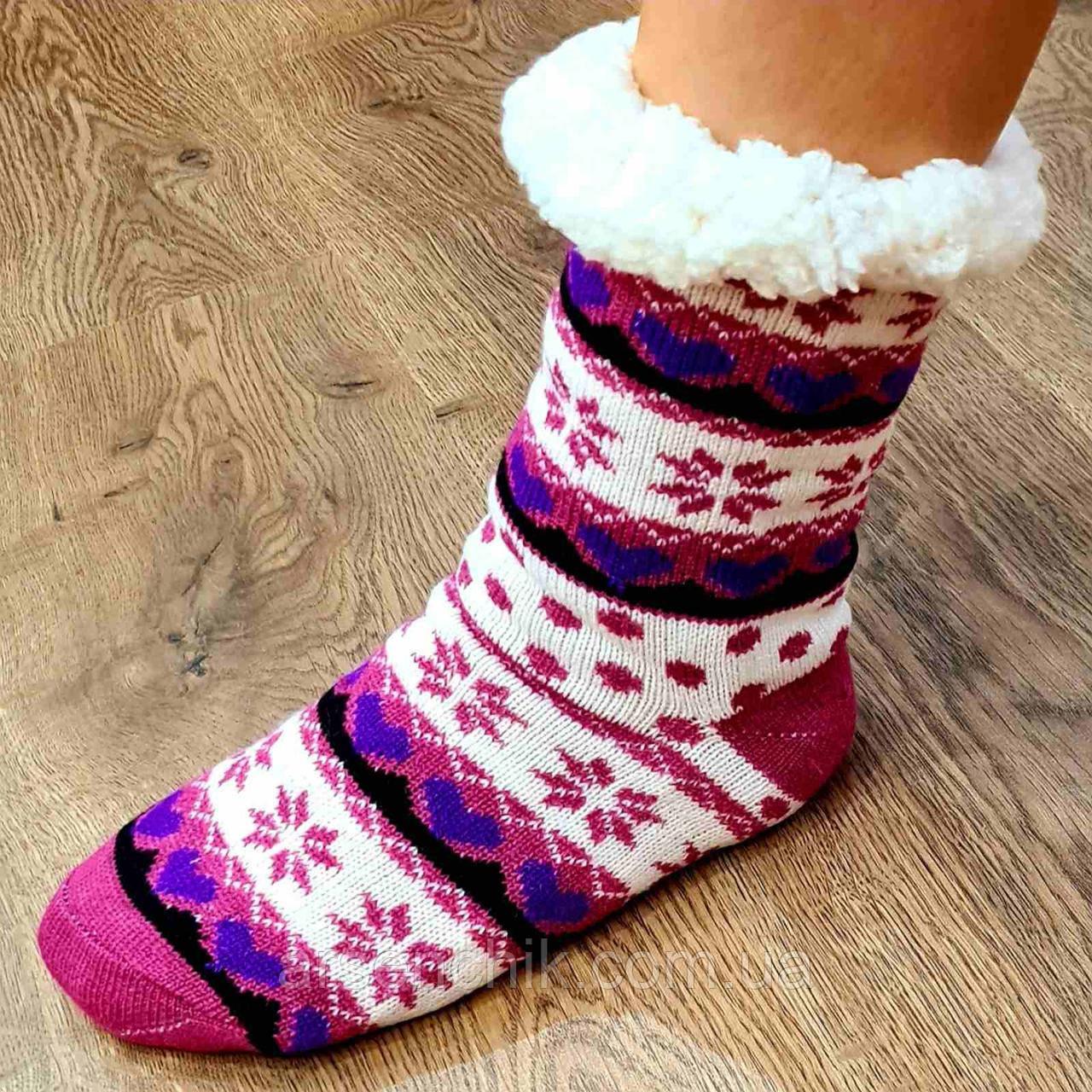 """Шкарпетки шерстяні на хутрі жіночі """"HAUSSOCKE"""" 39-41"""
