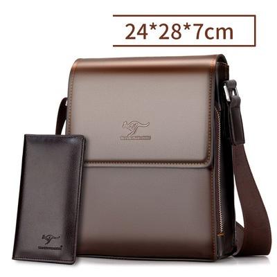 Мужская сумка-барсетка Kangaroo через плечо с кошельком в комплекте