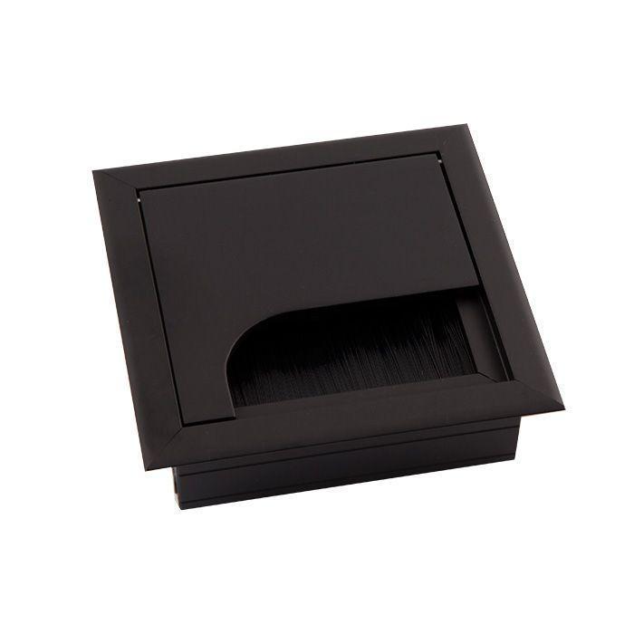 Заглушка для проводов MERIDA 80*80 мм  черная