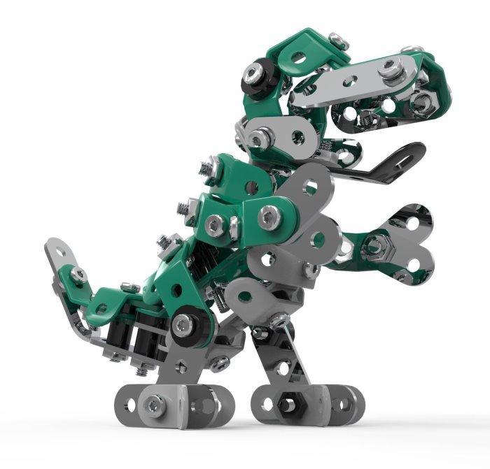 Конструктор SW-026 (24шт) металл, динозавр, отвертка, 159дет, в кор-ке, 36-23,5-4см
