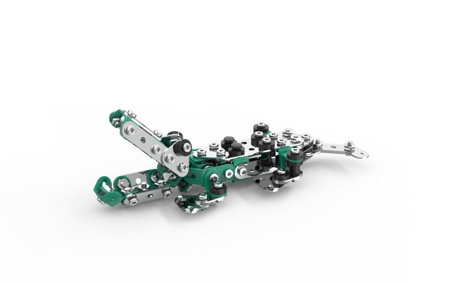 Конструктор SW-061 (24шт) металл, крокодил, 200дет, в кор-ке, 36-23,5-4см