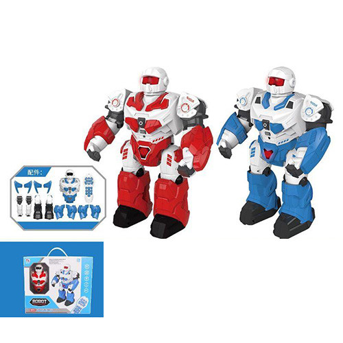 Робот 7707 (9шт) р/у,аккум,муз,звук,свет,ходит, програм,USBзар, в кор-ке, 36-30-9,5см