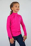 Гольф водолазка для девочки на кнопках, нарядный трикотажный гольф для девочки