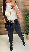 Модные женские джинсы с поясом хит 2020\2021