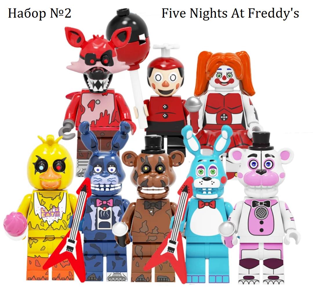 Набор фигурок 5 ночей с Фредди 8 шт Аниматроники  Аналог Лего Конструктор Набор #2