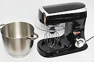 Кухонний тістоміс міксер планетарний Royalty Line BLACK 2100 Вт, фото 2