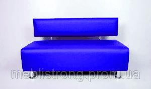 Офисный диван Лайф - синий цвет глянцевый