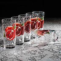 """Набор стаканов """"Классик"""" 230 мл, фрукты в ассортименте 6 шт."""