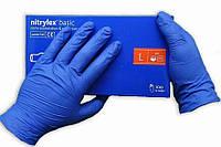 Перчатки нитриловые Mercator Medical nitrylex 100 шт, размер L синие